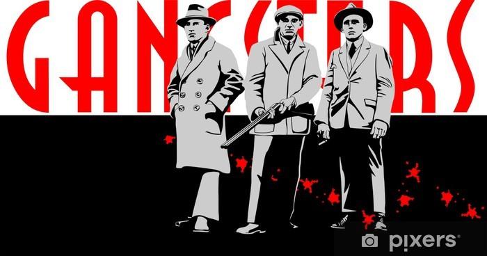 Naklejka Pixerstick Gangsterzy mafia - Życie