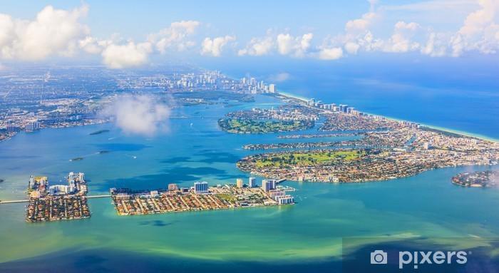 aerial of coastline Miami Pixerstick Sticker - America