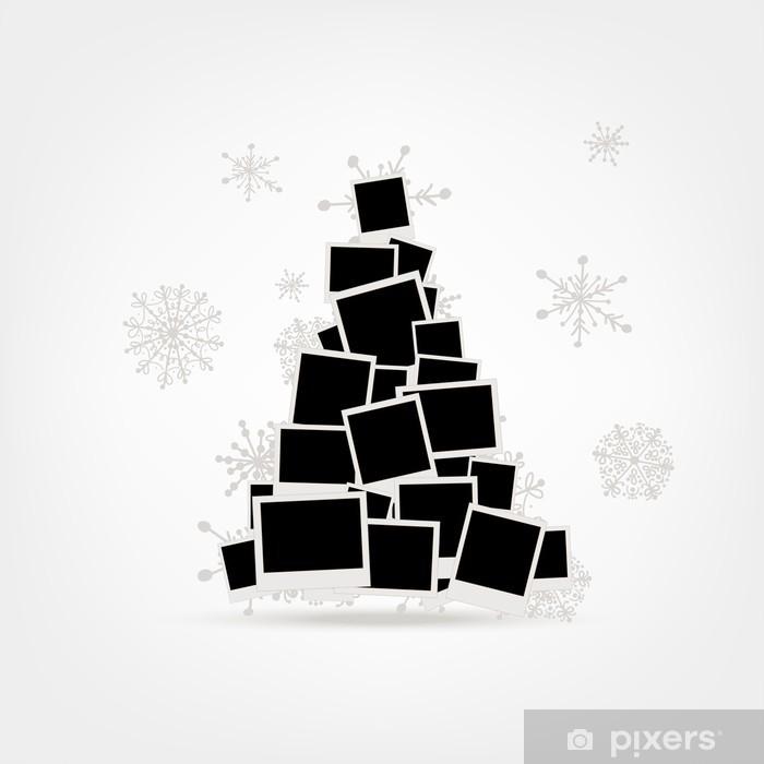 Fototapete Weihnachtsbaum Design Aus Bilderrahmen
