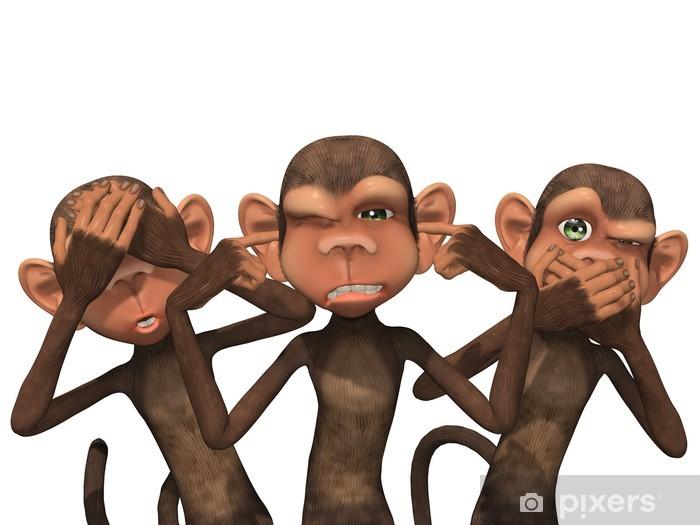 Fototapeta winylowa Trzy mądre małpy - Ezoteryka