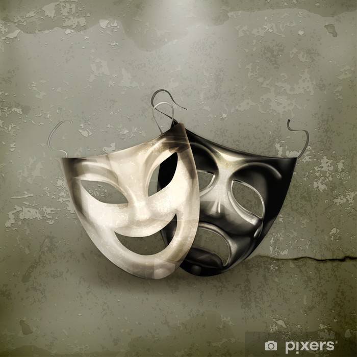 Theater masks, old-style Vinyl Wall Mural - Art and Creation