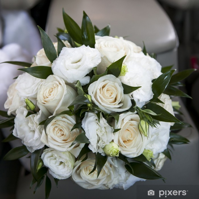Lisianthus Bouquet Sposa.Wedding Bouquet With Rose And Lisianthus Wall Mural Pixers We