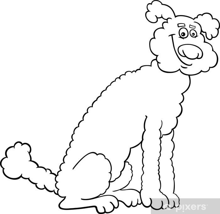 Boyama Kitabı Için Kaniş Köpek Karikatür çıkartması Pixerstick