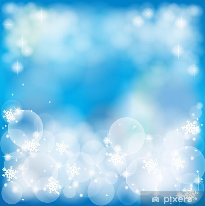 Poster Deep blue abstract background, durch den Vektor erstellen - Jahreszeiten