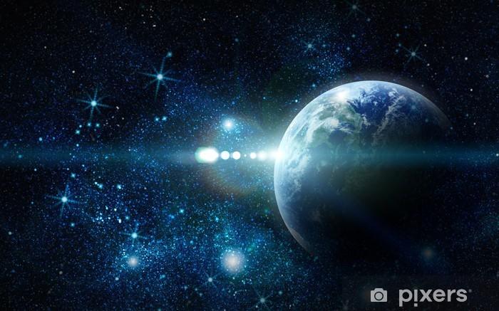 Naklejka Pixerstick Realistyczne planet earth w przestrzeni - Wszechświat