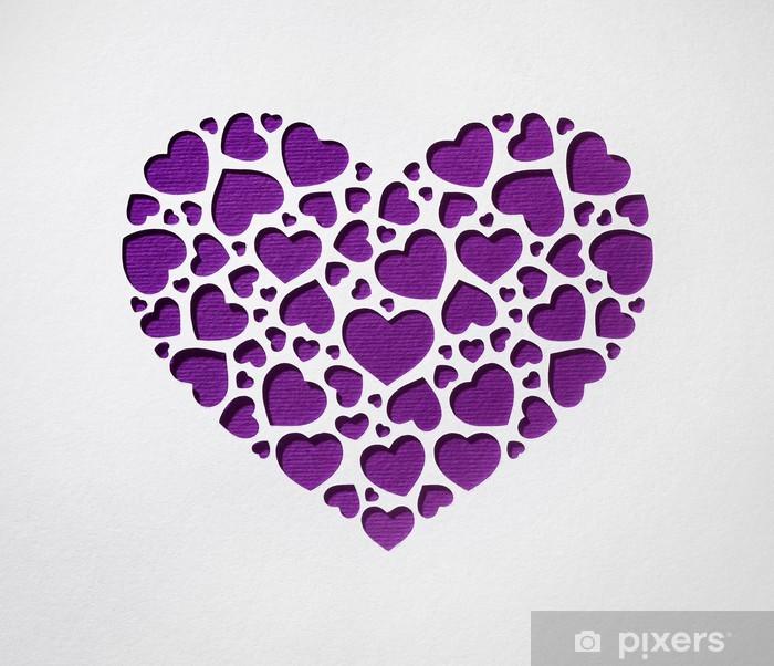 Fotomural Corazón Del Día De San Valentín Hecho De Pequeños