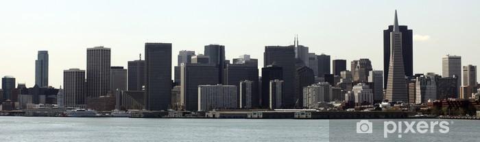 Naklejka Pixerstick Skyline San Francisco - Miasta amerykańskie