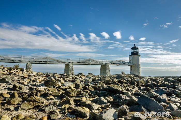 Naklejka Pixerstick Marshall Point Lighthouse w Port Clyde Harbour - Infrastruktura