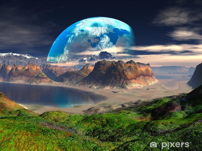 Papier peint vinyle Hidden Cove sur Distant Planet - Espace