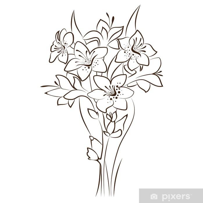 Plakát Vektoru květinový design - Květiny