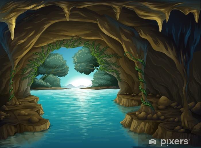 Pixerstick Dekor En grotta och vatten - Vatten