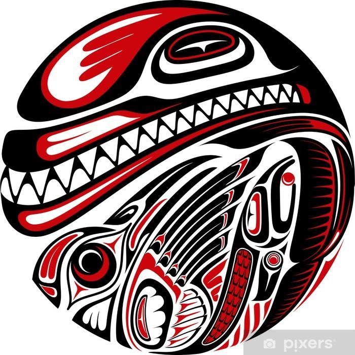 Haida Style Tattoo Design Wall Mural Vinyl