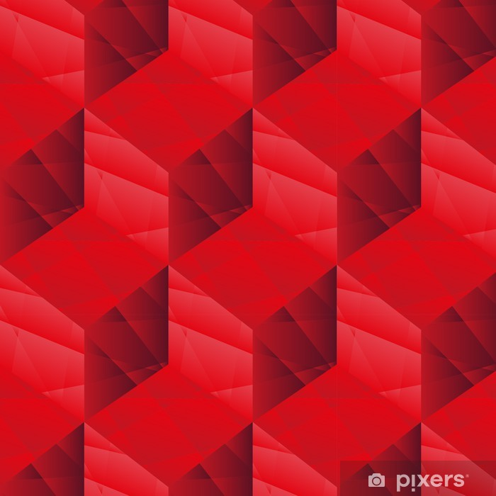 Vinilo Pixerstick Cubos roja patrón - Temas