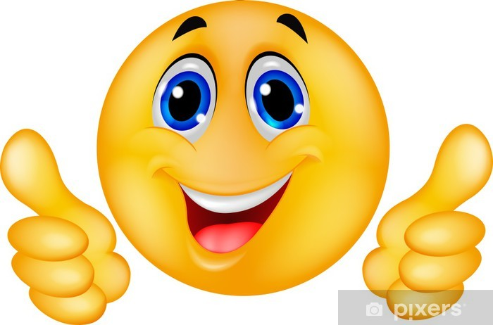 Happy Smiley Emoticon Face Wall Mural Pixers 174 We Live