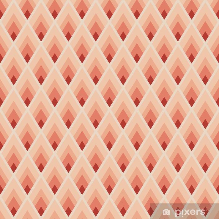 Fotomural Lavable Patrón transparente geométrica con rombos rojos - Fondos