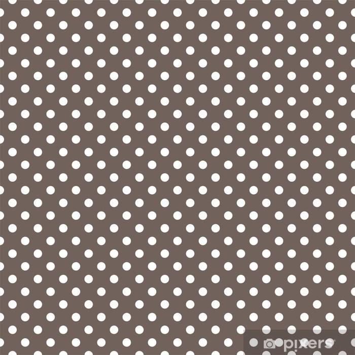 Papier peint vinyle Polka dots seamless texture sur fond brun - Thèmes