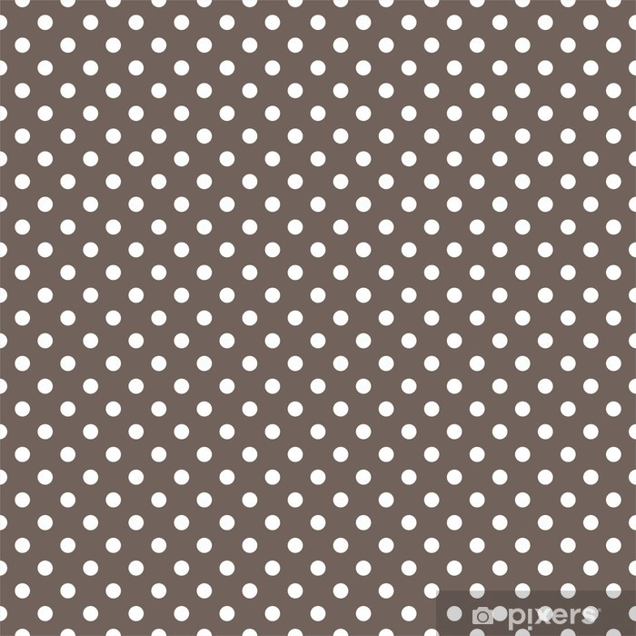Polka dots seamless vector pattern texture on brown background Vinyl Wall Mural - Themes