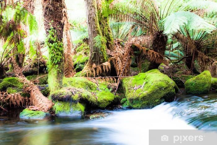 Sticker Pixerstick Russell Falls, Tasmanie - Océanie
