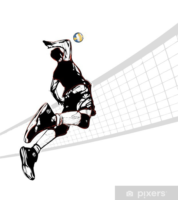 Vinilo Pixerstick Jugador de voleibol - Temas