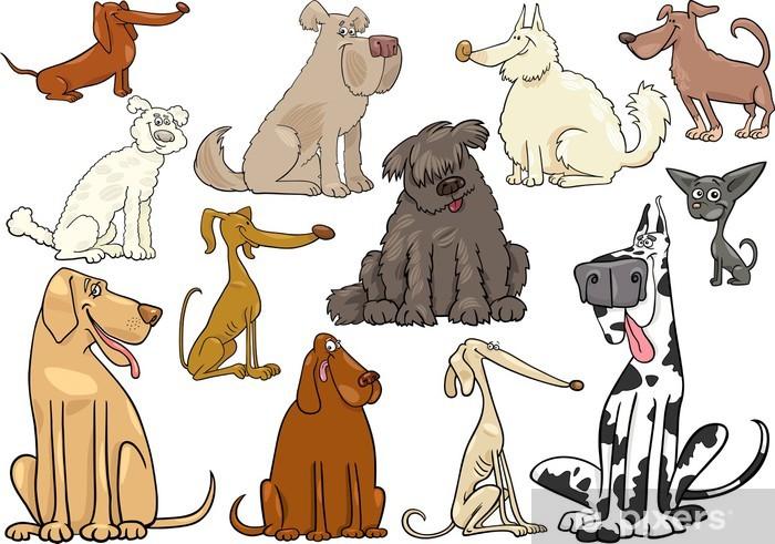 Fototapeta winylowa Psy i szczenięta kreskówka duży zestaw - Ssaki