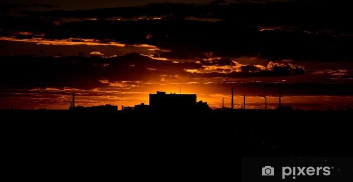 Naklejka Pixerstick Zachód słońca - Niebo