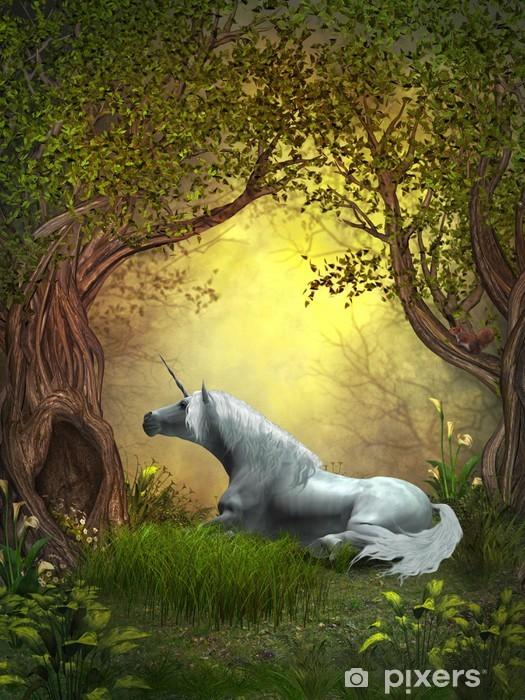 Fototapeta winylowa Woodland Unicorn - Tematy