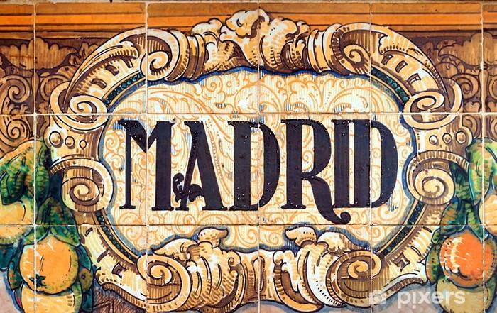 Sticker Pixerstick Madrid - Arrière plans