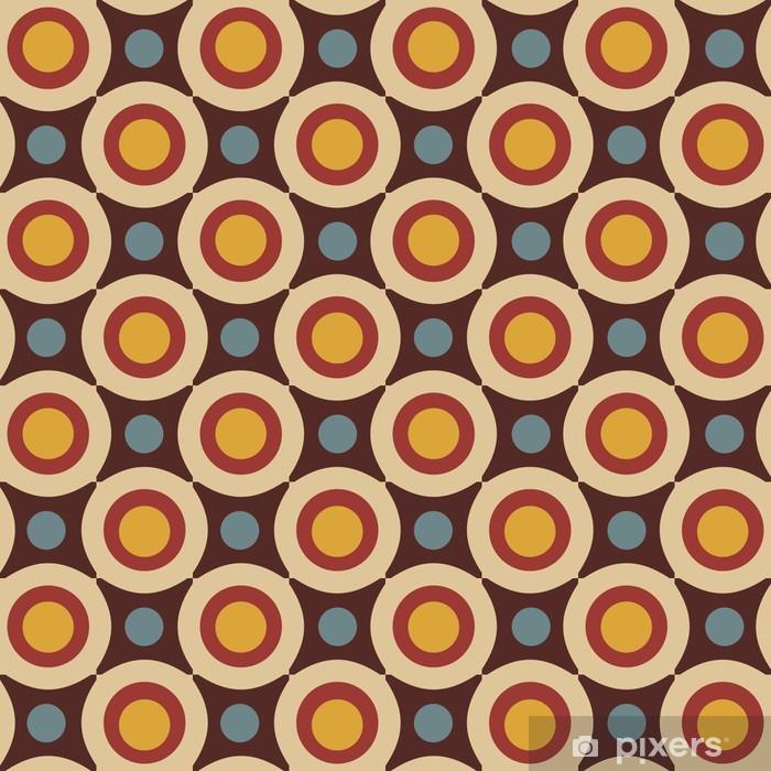 Autocolante Pixerstick Seamless pattern in retro colors - Fundos