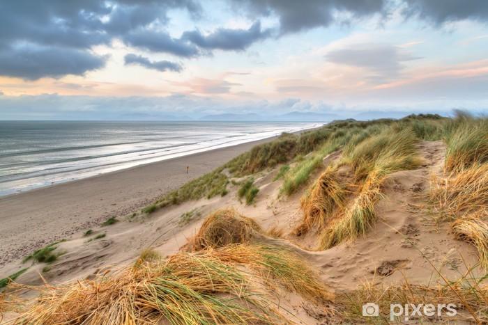 Sticker Pixerstick Rossbeigh plage dunes au coucher du soleil, de l'Irlande - Irlande
