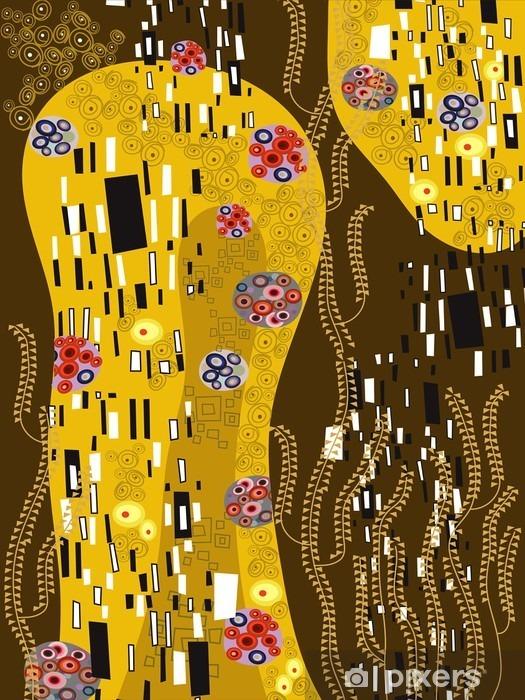 Vinyl Fotobehang Klimt geà ¯ nspireerd abstracte kunst - Stijlen