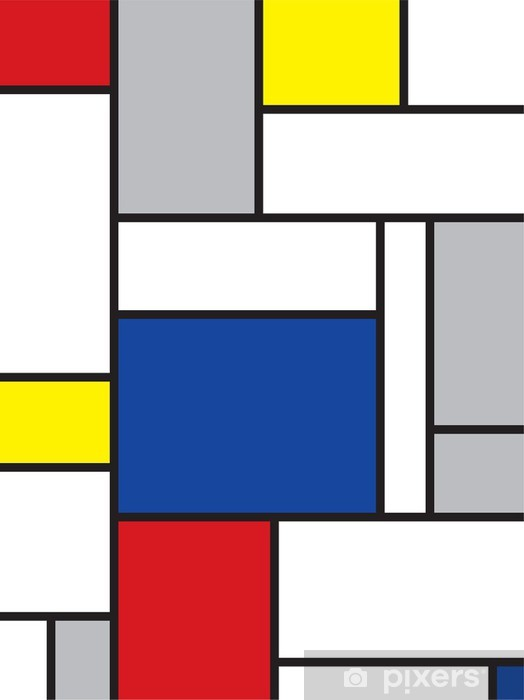 mondrian inspired art Door Sticker -