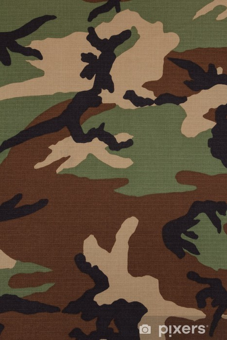 Us Military Woodland Camouflage Fabric Texture Background Wall Mural Vinyl