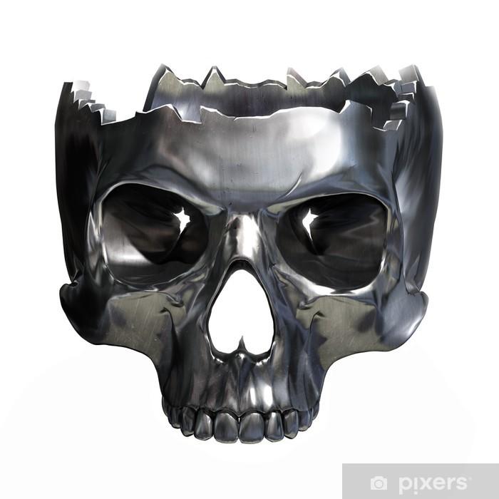 Naklejka Pixerstick Metallic skull - Znaki i symbole