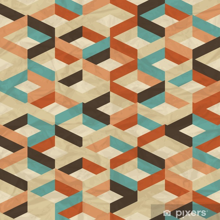 Seamless retro geometric pattern. Self-Adhesive Wall Mural - Styles
