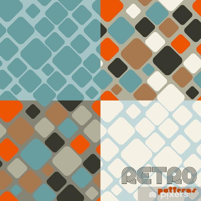 Fotomural Estándar Conjunto de cuatro patrones retro sin fisuras abstractos. - Artes y creación