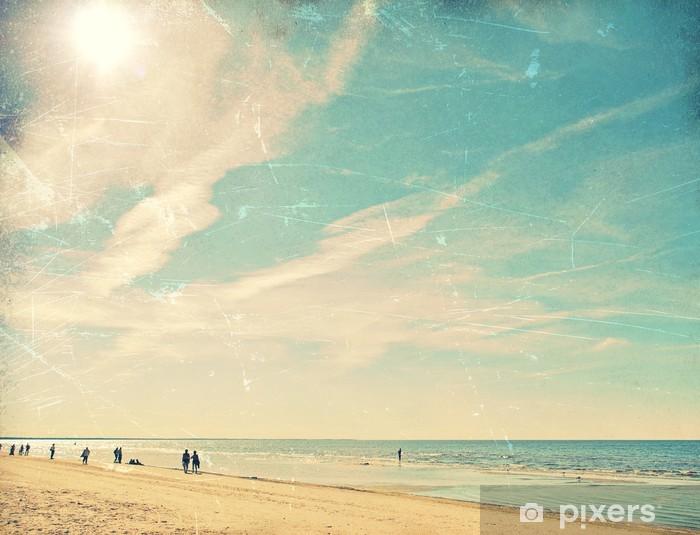 Vinyl Fotobehang Tropisch strand vintage achtergrond - Vakantie
