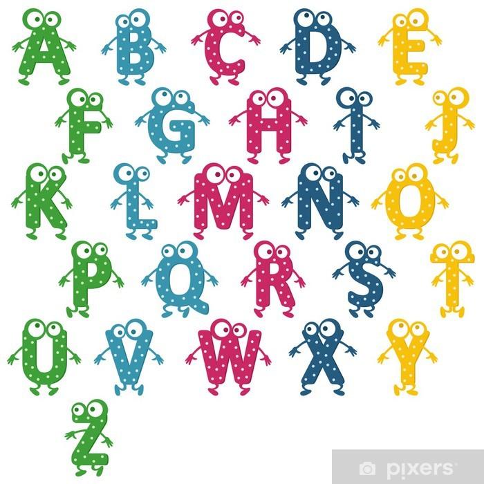 Pixerstick Sticker Alfabet vrolijke - Thema's