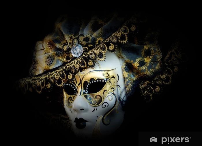 Fotobehang Mysterieuze Venetiaans Masker Pixers We Leven Om Te Veranderen