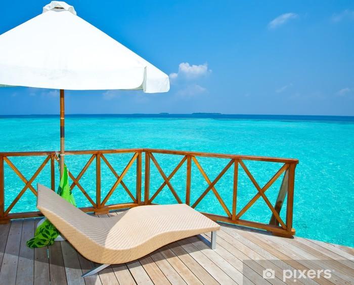 Disegno Ombrellone E Sdraio.Adesivo Ombrellone E Sdraio Su Una Villa D Acqua Terrazza Maldives