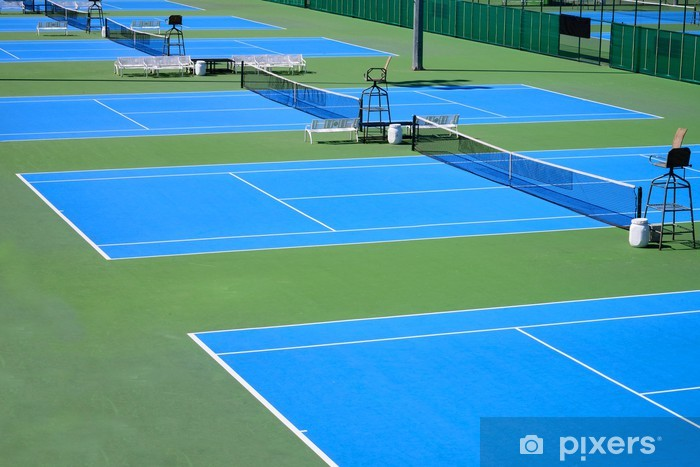 Sticker Pixerstick Détail d'un court de tennis - Sports individuels