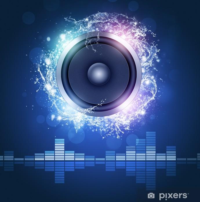 Fototapeta winylowa Loud Speaker Muzyka Poster - Rozrywka