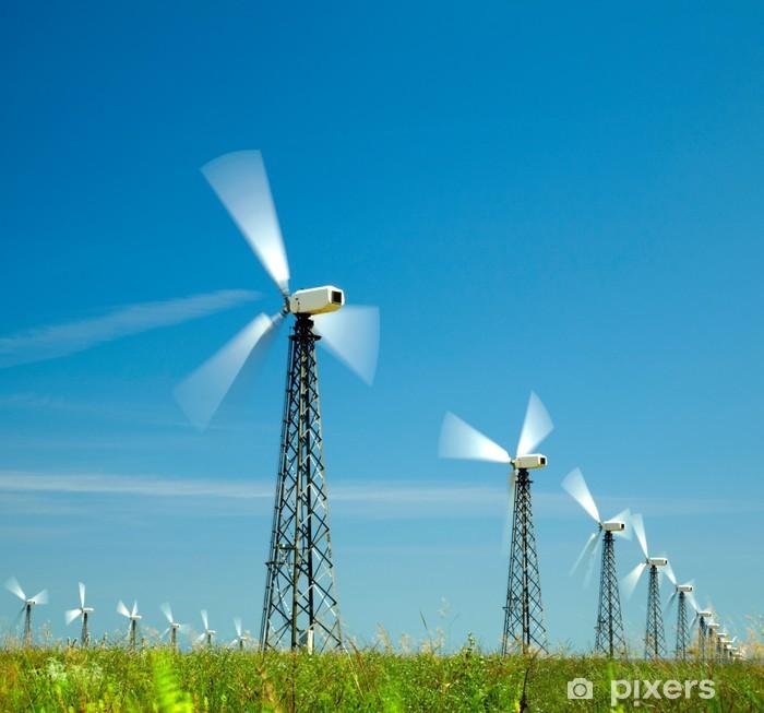 Papier peint vinyle Éoliennes - Ecologie