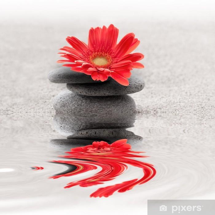 Galets et gerbera reflet zen Poster - SPA & Wellness