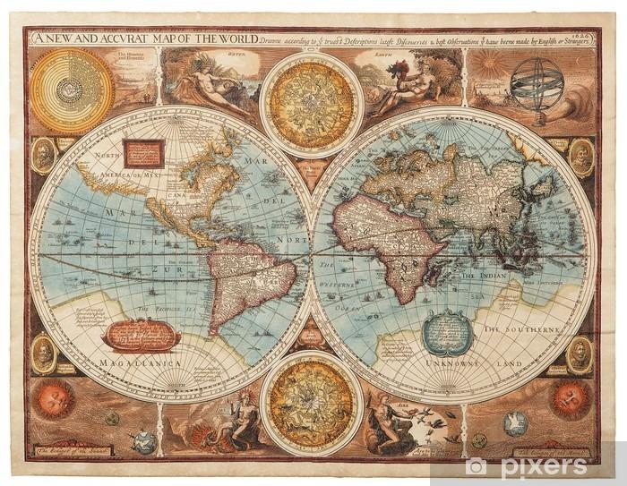 Sticker Pixerstick Ancienne carte (1626) -