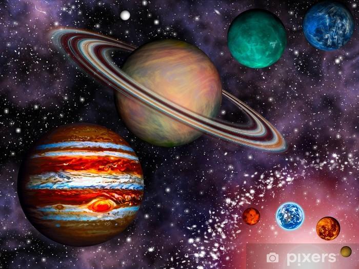 Papier peint vinyle 3D Solar System Wallpaper - Univers