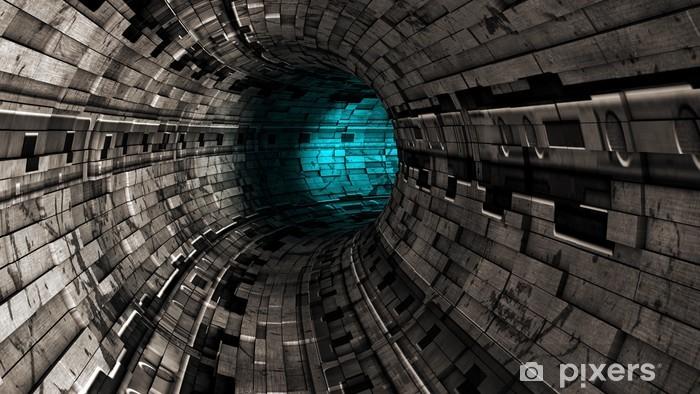 Naklejka Pixerstick Streszczenie tunelu - Tematy