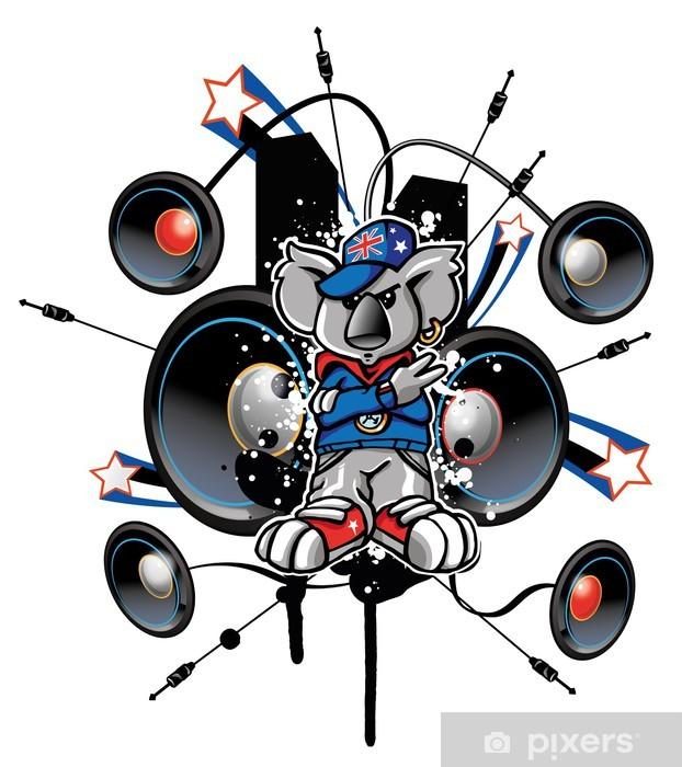 Fototapeta winylowa Koala rap - Rozrywka