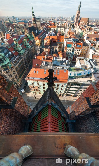 Sticker Pixerstick Wroclaw vue de dessus - Paysages urbains