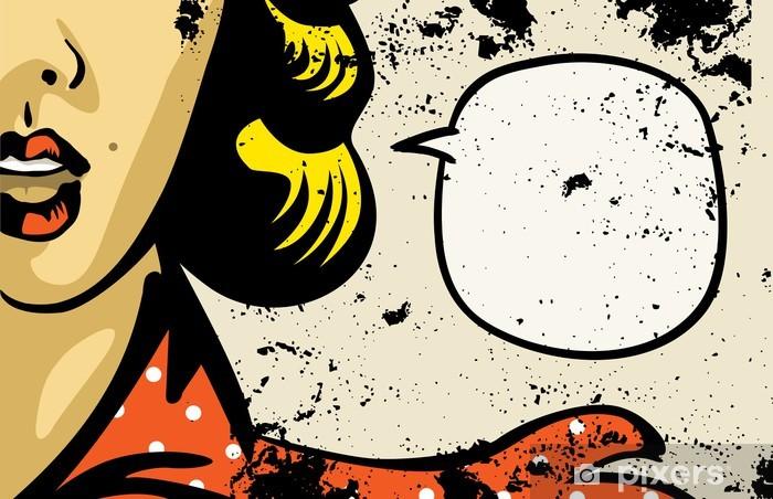 Vinyl Fotobehang Retro mode vrouw comics - Thema's