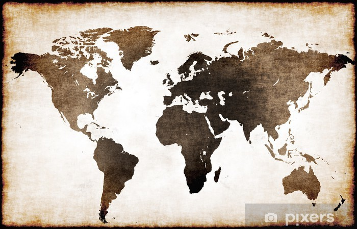Old world map Pixerstick Sticker - Themes